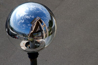 Reflection in a globe