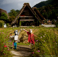 2 Scare Crows, Shirakawa Village, Japan