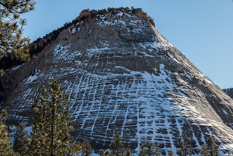 Snow on Checkerboard Mesa