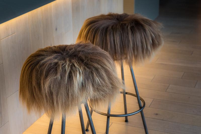 Hairy bar stool