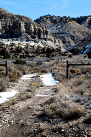 A ranch road, Tropic Valley near Henrievile, UT