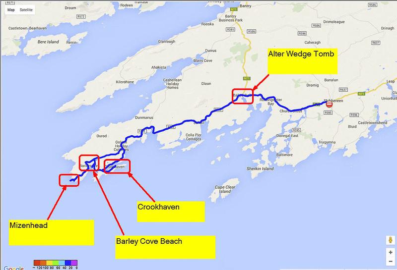 01 2016-06-08 Map Day 10 Cork to Mizenhead