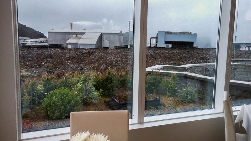 Geothermal Plan outside Hotel