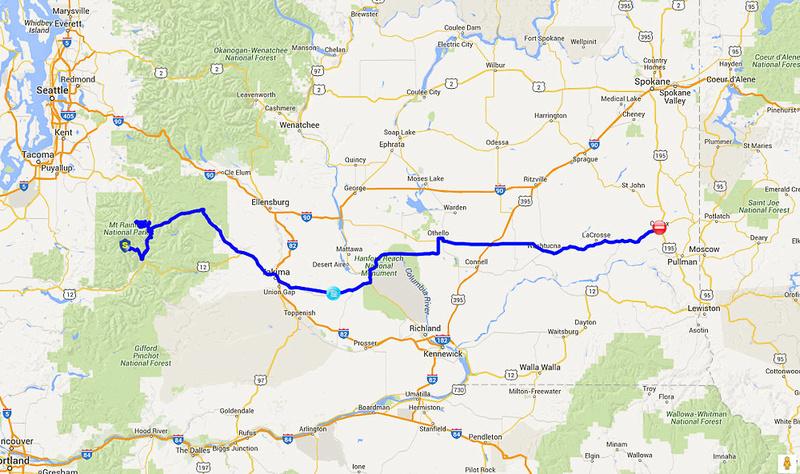 02 2015-10-01 Map - Mt. Rainier to Colfax