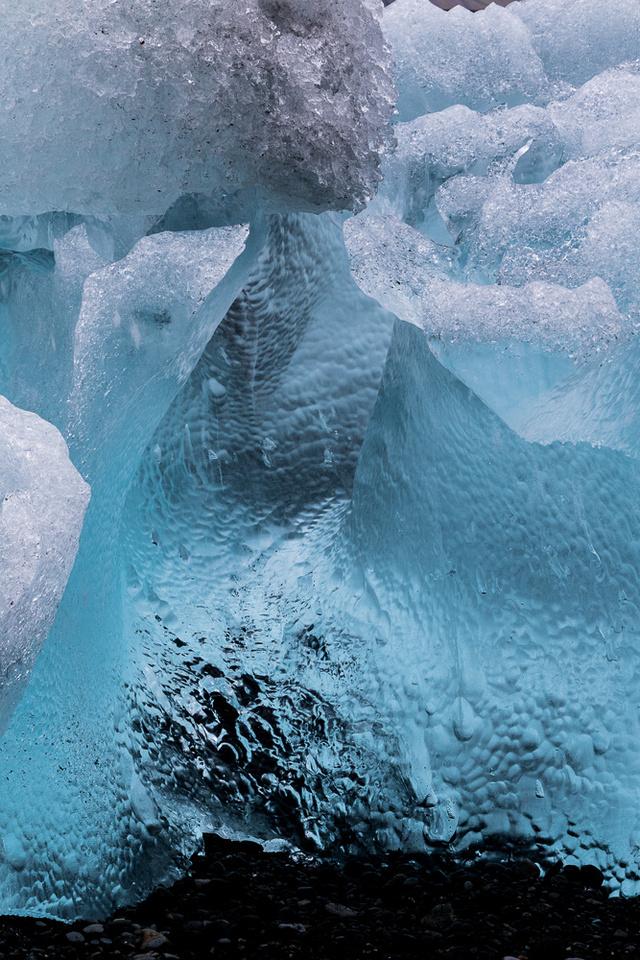 Iceberg on Jökulsárlón Iceberg Beach #08
