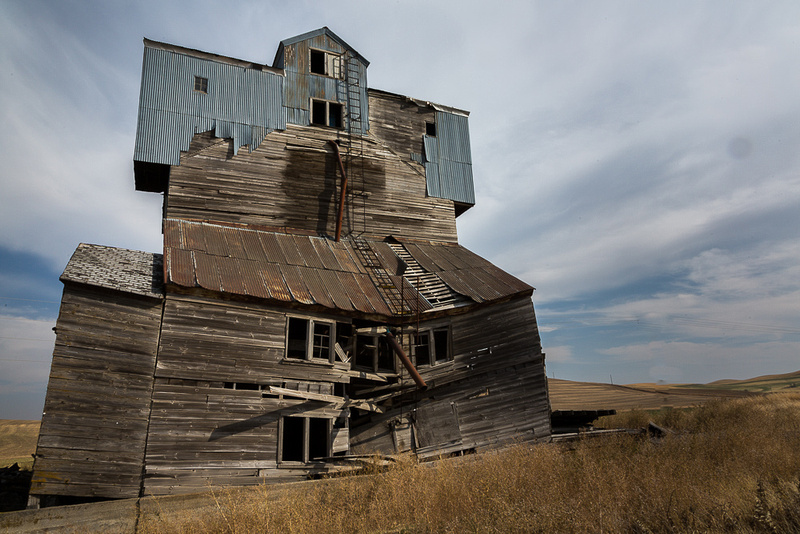 Abandoned grainery in Palouse Area