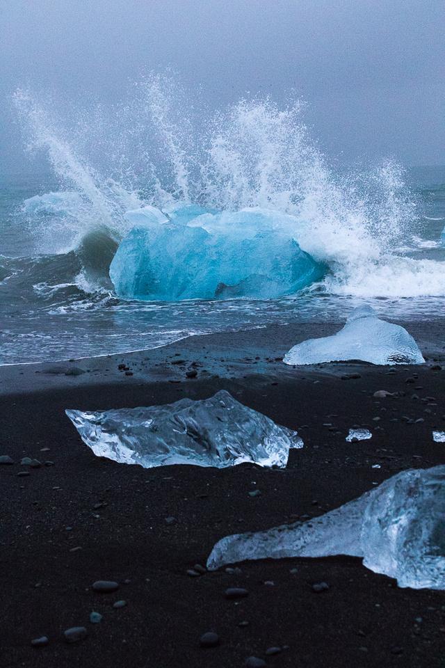 Iceberg on Jökulsárlón Iceberg Beach #03