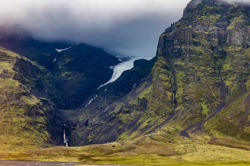 Glacier and waterfall, East of Hof