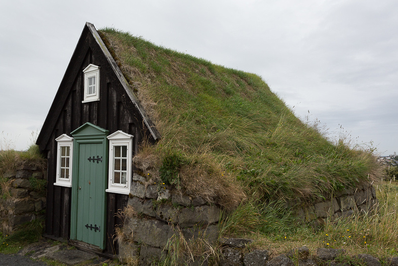 Sod roof in Iceland