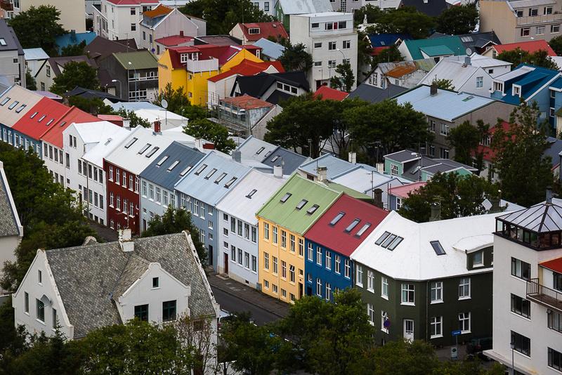 Colorful houses, Reykjavik Streets #1