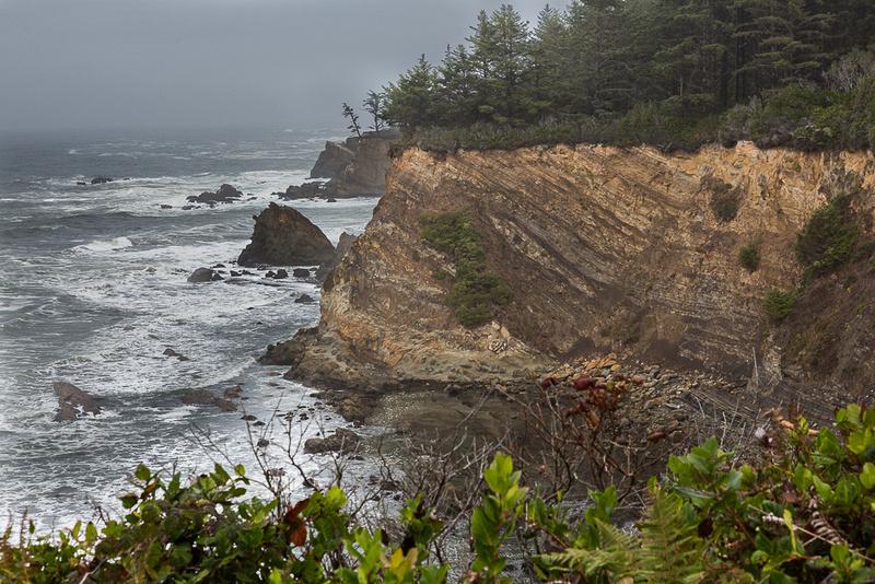 Fog, Surf and Cliffs