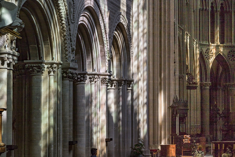 Cathedral light and shadow, Notre Dame de Bayeux, France
