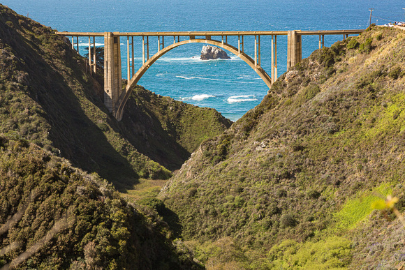 East view of Bixby Bridge