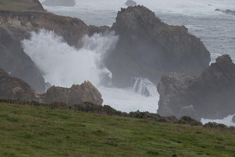 Rough Sea on Foggy Day near Big Sur