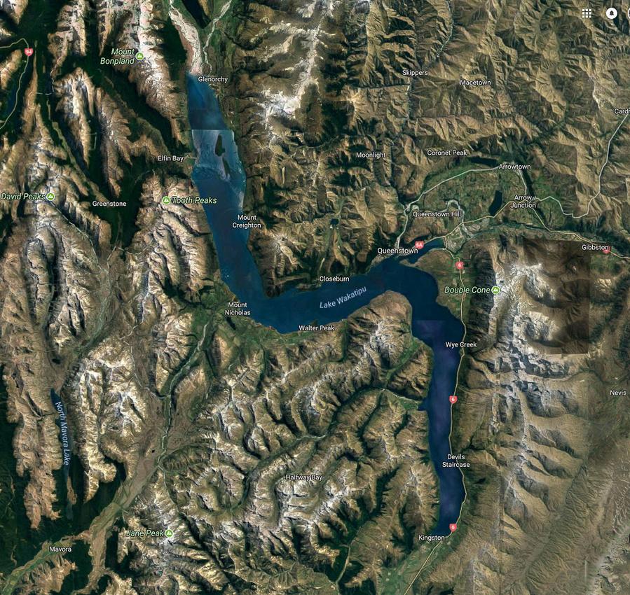 01 2017-02-13 Lake Wakatipu arial (Google)