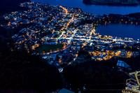Queenstown from above at night