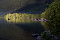 Last rays of sun on Lake McDonald