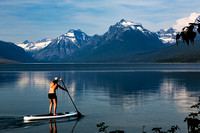 Stand up on Lake McDonald
