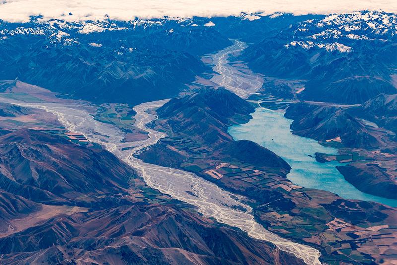 Lake Coleridge in Southern Alps, NZ