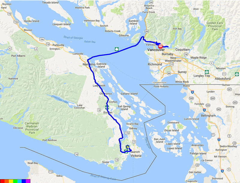 01 Map 5 - Victoria to Vancouver