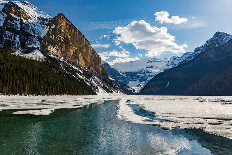 Ice Breaking up on Lake Louise