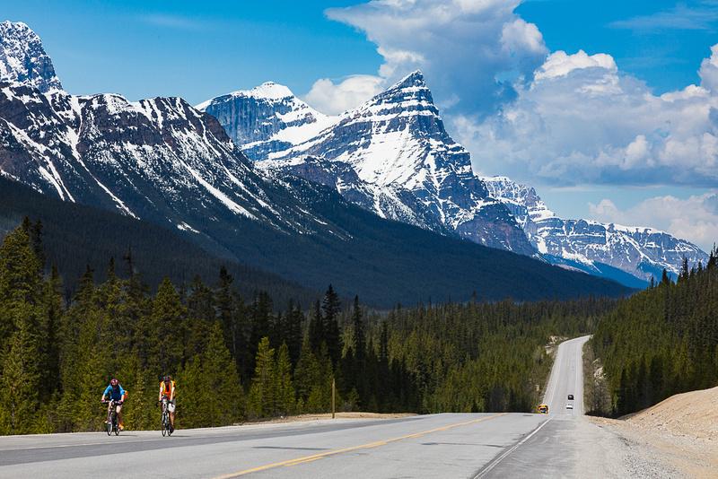 Biking in the Canadian Rockies
