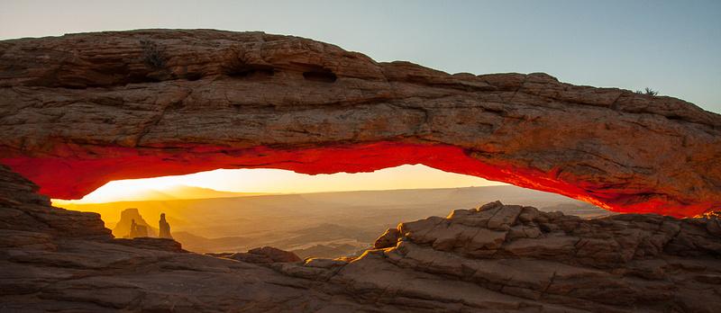 Sunrise, Washerwoman and Mesa Arch, Canyonlands UT