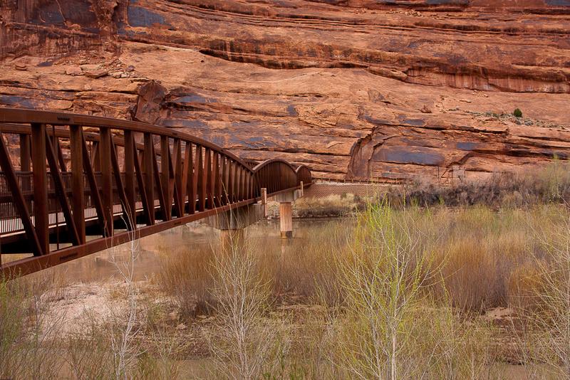 Moab foot bridge