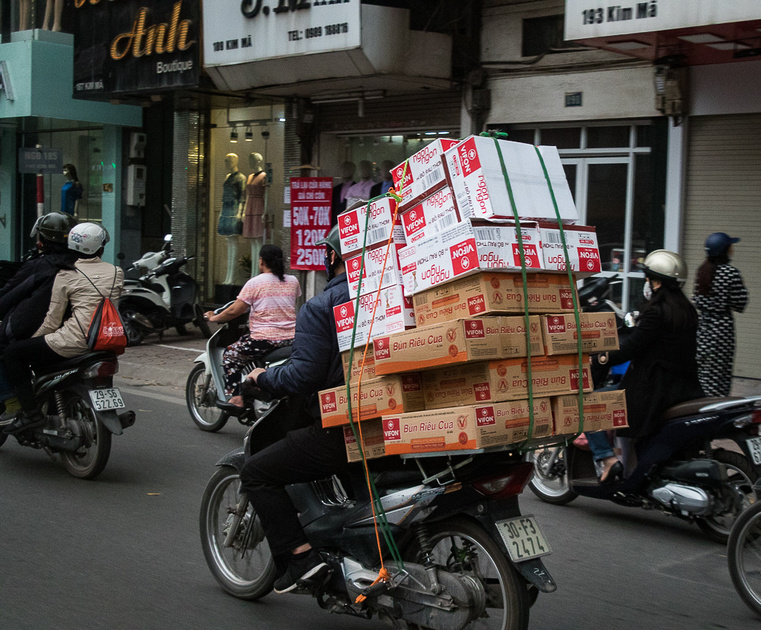 Boxes of Vermicelli crab headed into town