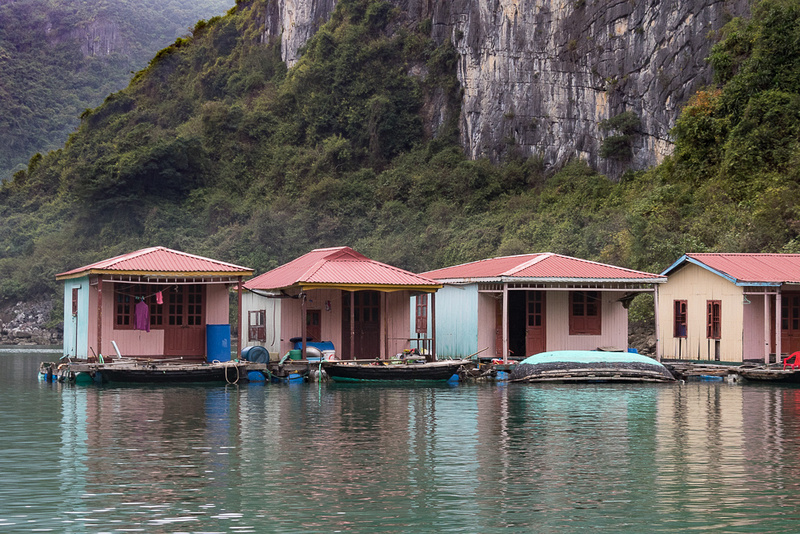 Vung Vieng Fishing Village homes