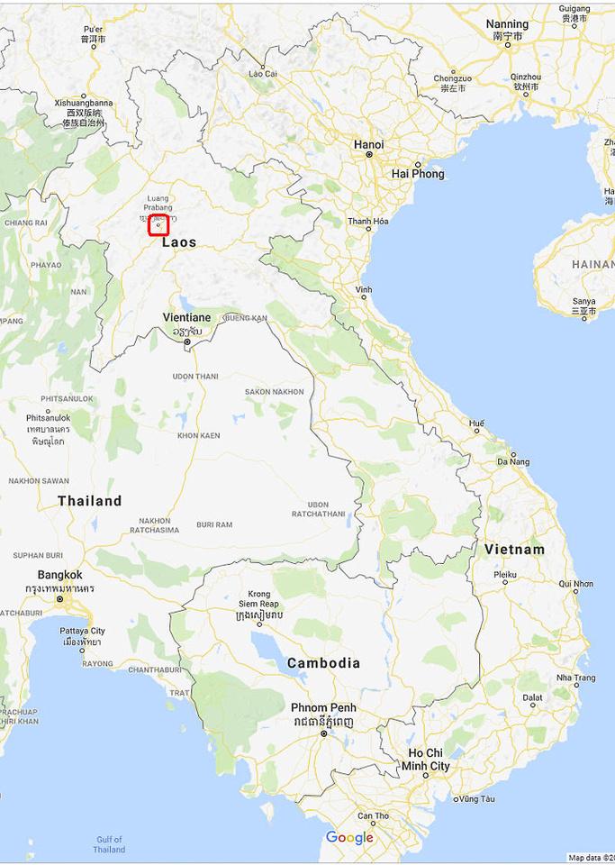 01 Map Luang Prabang in SE Asia