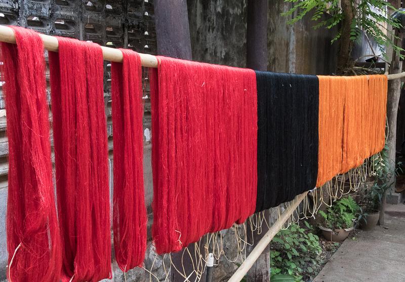 Dyed weaving thread, Luang Prabang