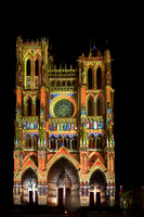 Laser light Show,  Notre Dame Cathedral of Amiens #2