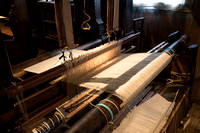 Hand loom in Weaver's house.  Zaanse Schans, Netherlands