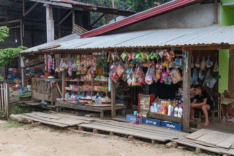 Ban Tha Deua General store.  Laos