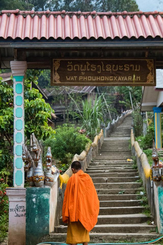 Monk in Ban Tha Deua, Laos