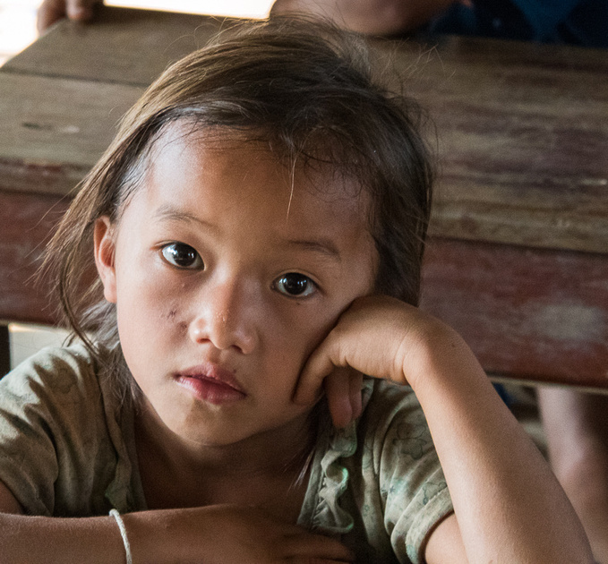H'mong School girl.  Ban Kok San, Laos