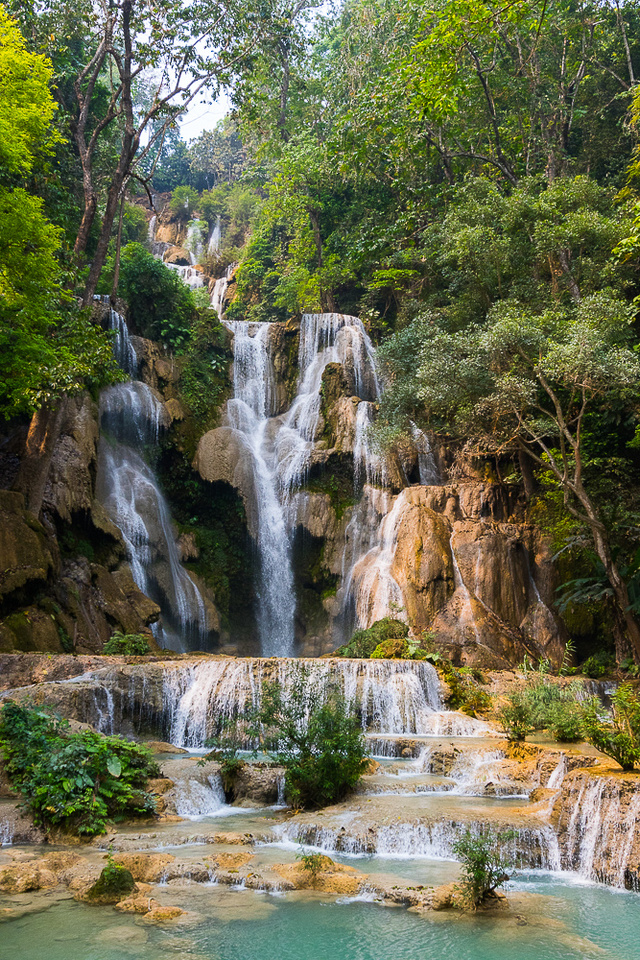 Kwangsi Waterfall #1.  Laos