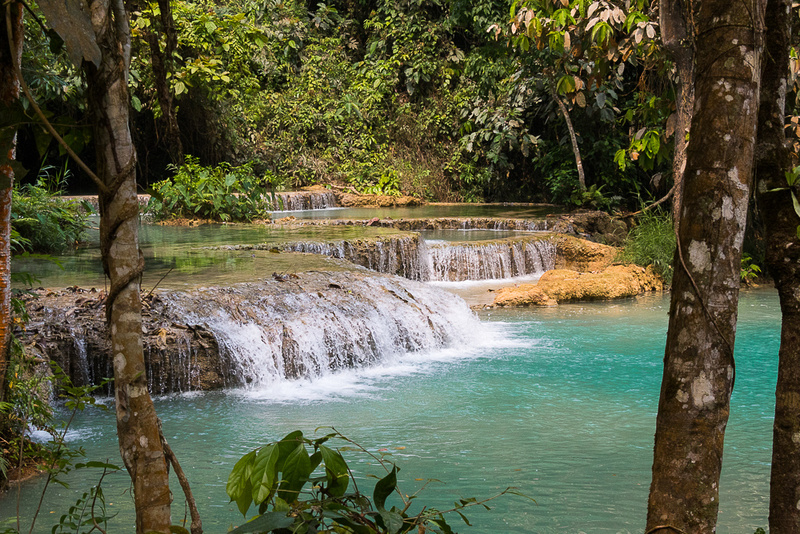 kwangsi Waterfall #4.  Laos