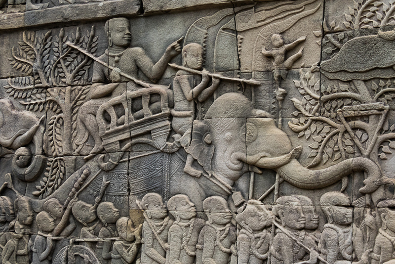 Base Relief, Angkor Thom Temple