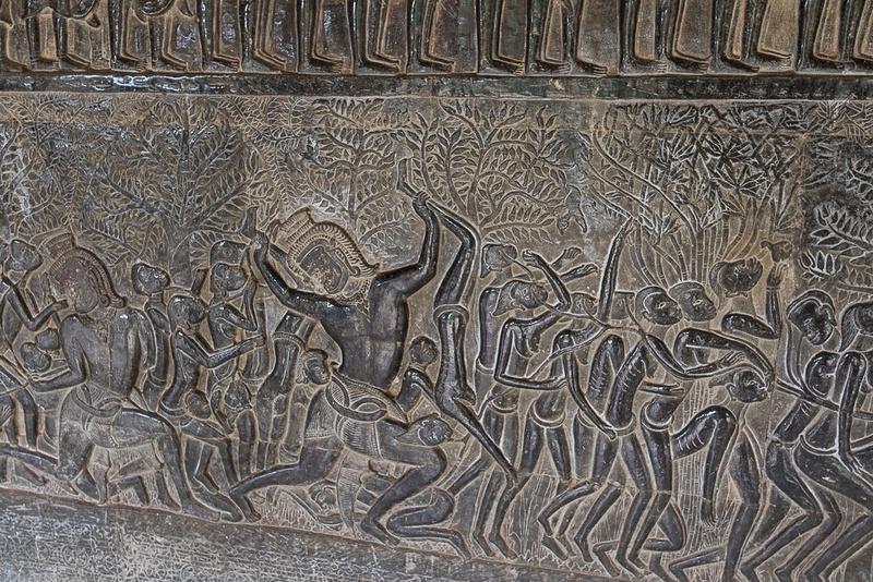 Wall carving, Angkor Wat Temple