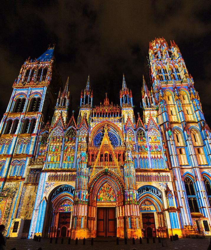 Laser Light show, Cathedral Notre Dam Rouen, France #2