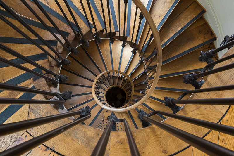 Spiral Stairs, Jules Verne Museum, Amiens, France