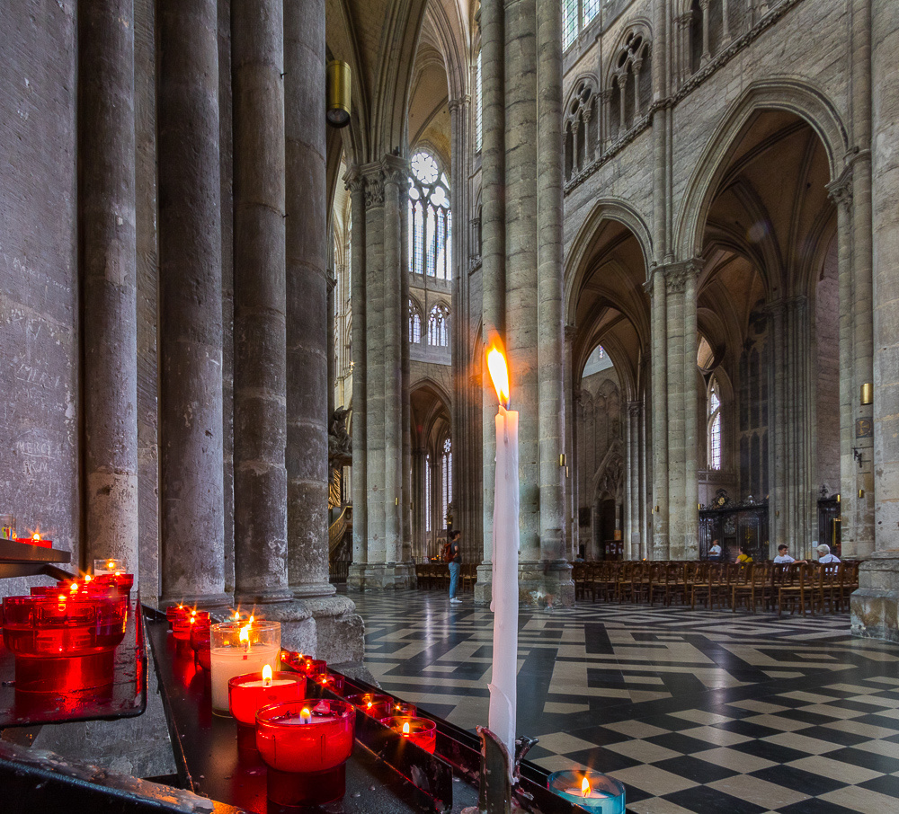Candles, Notre Dame Cathedral of Amiens