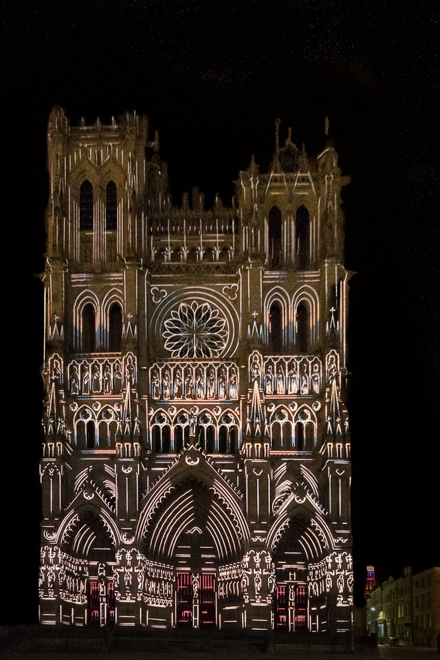 Laser light Show,  Notre Dame Cathedral of Amiens #1