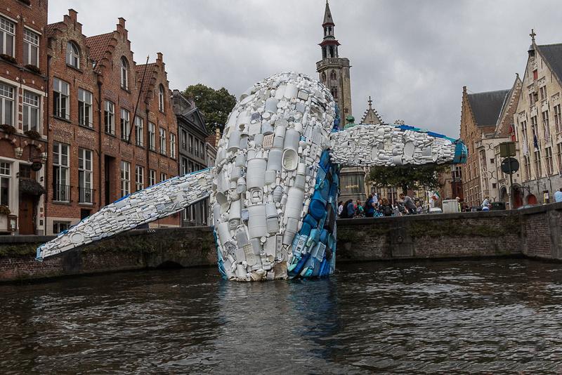 Brugge Plastic Whale.  Bruges, France