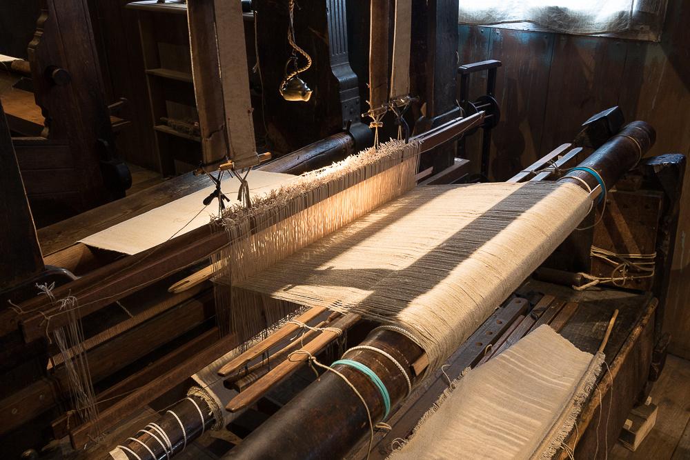 Hand loom in Weaver's house.  Zaanse Schans, Netherlands