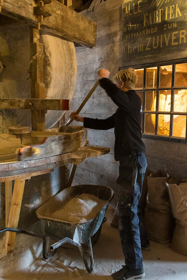 Wind powered paintmill.  Zaanse Schans, Netherlands