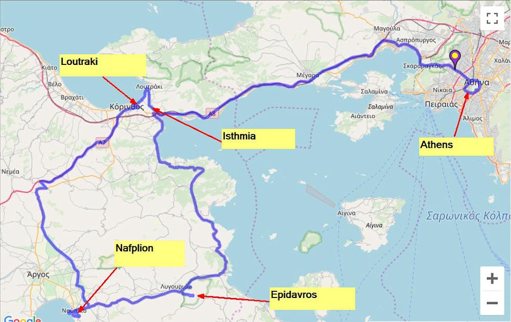 01 Map #02a Peloponnese Peninsula