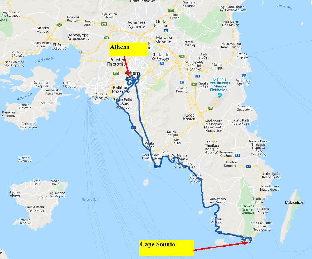 01 Map #03a Cape Sounio